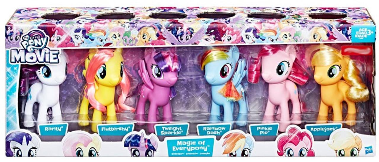 my little pony the movie magic of everypony 6 figure 6 pack hasbro
