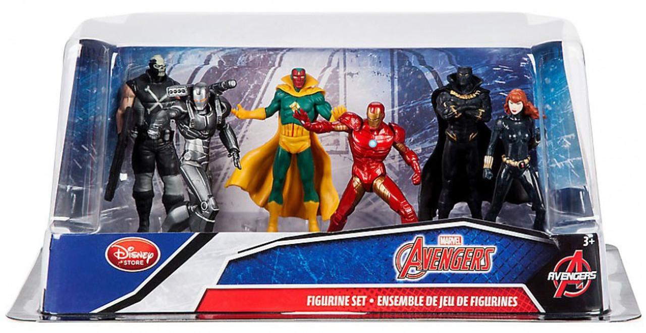 disney marvel avengers exclusive 6 piece pvc figure play set iron man black - Jeux D Iron Man