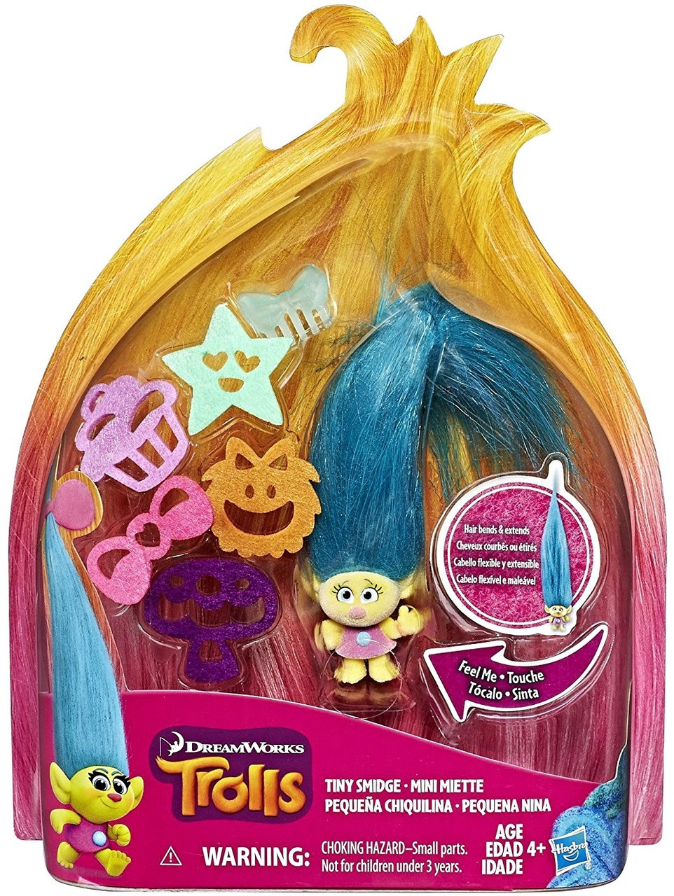Trolls Hair Raising Tiny Smidge Figure Hasbro Toys Toywiz