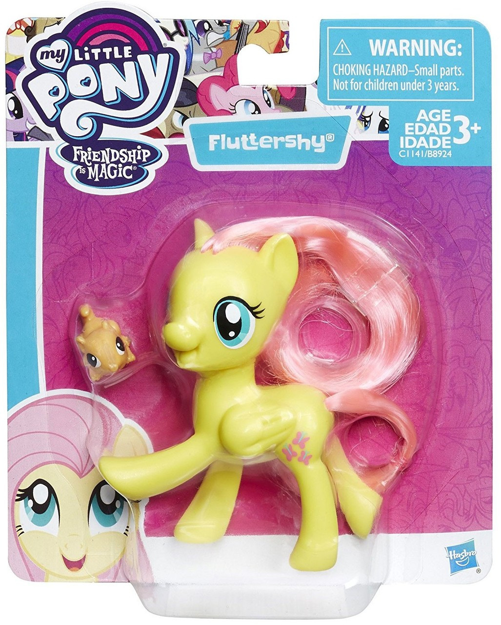 my little pony friendship is magic fluttershy mini figure hasbro