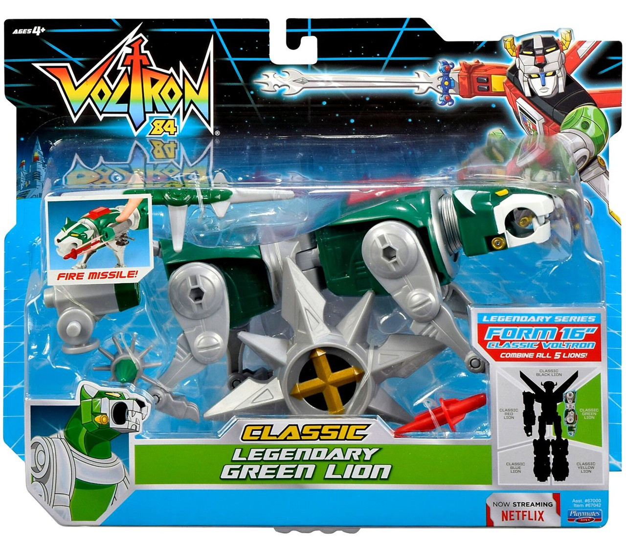 Voltron 84 CLASSIC Legendary Green Lion Combinable Action Figure