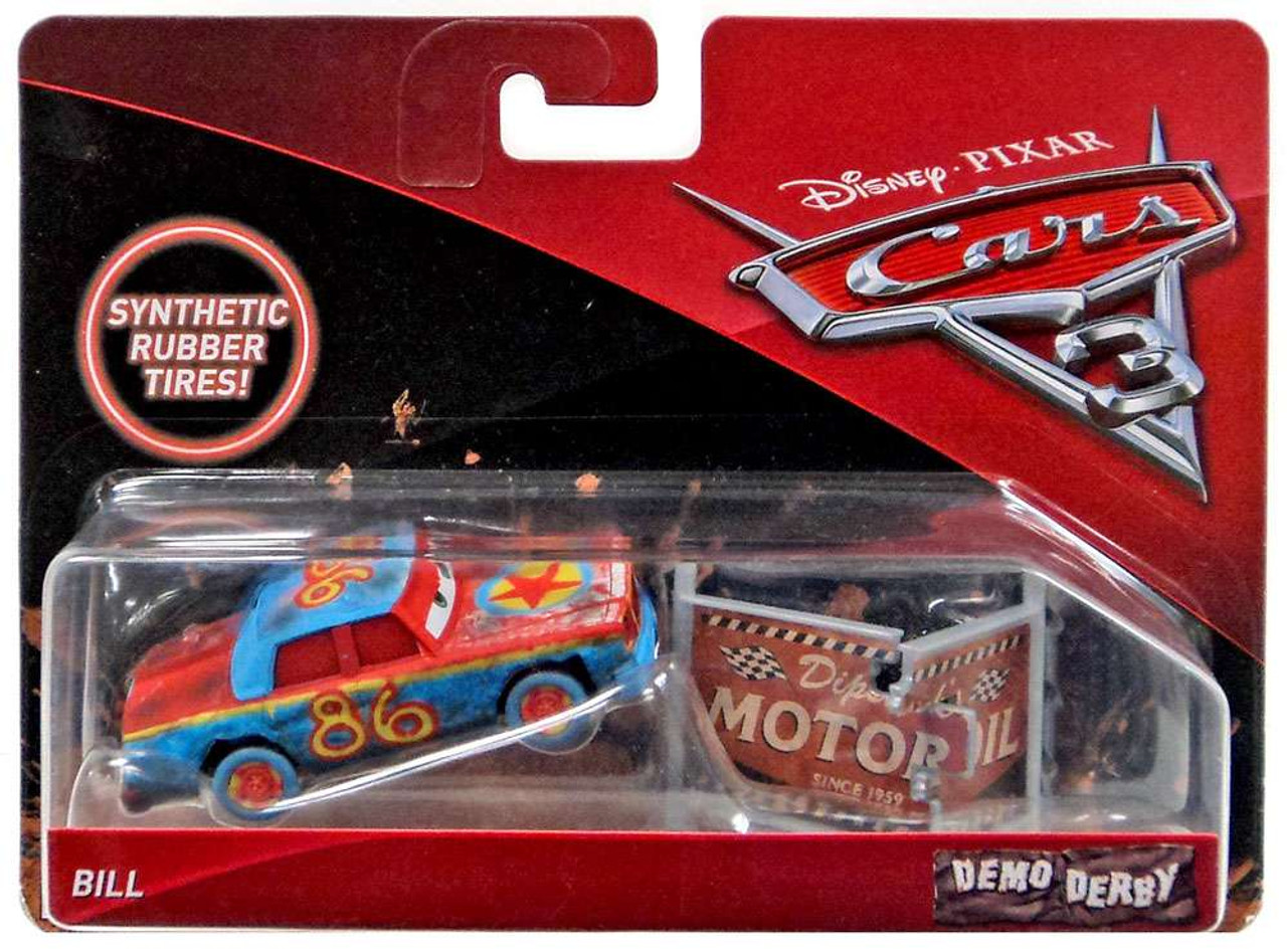 Disney Pixar Cars Cars 3 Demo Derby Bill 155 Diecast Car Mattel Toys