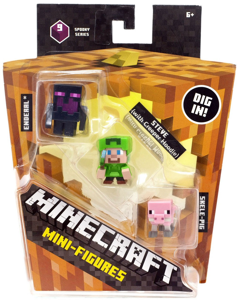 Minecraft Toys And Mini Figures For Kids : Minecraft spooky halloween series steve with hoodie