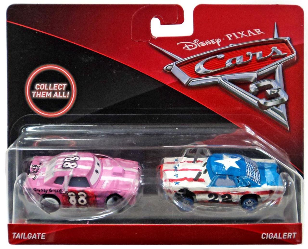 Disney Pixar Cars Cars 3 Tailgate Cigalert 155 Diecast 2 Pack Mattel