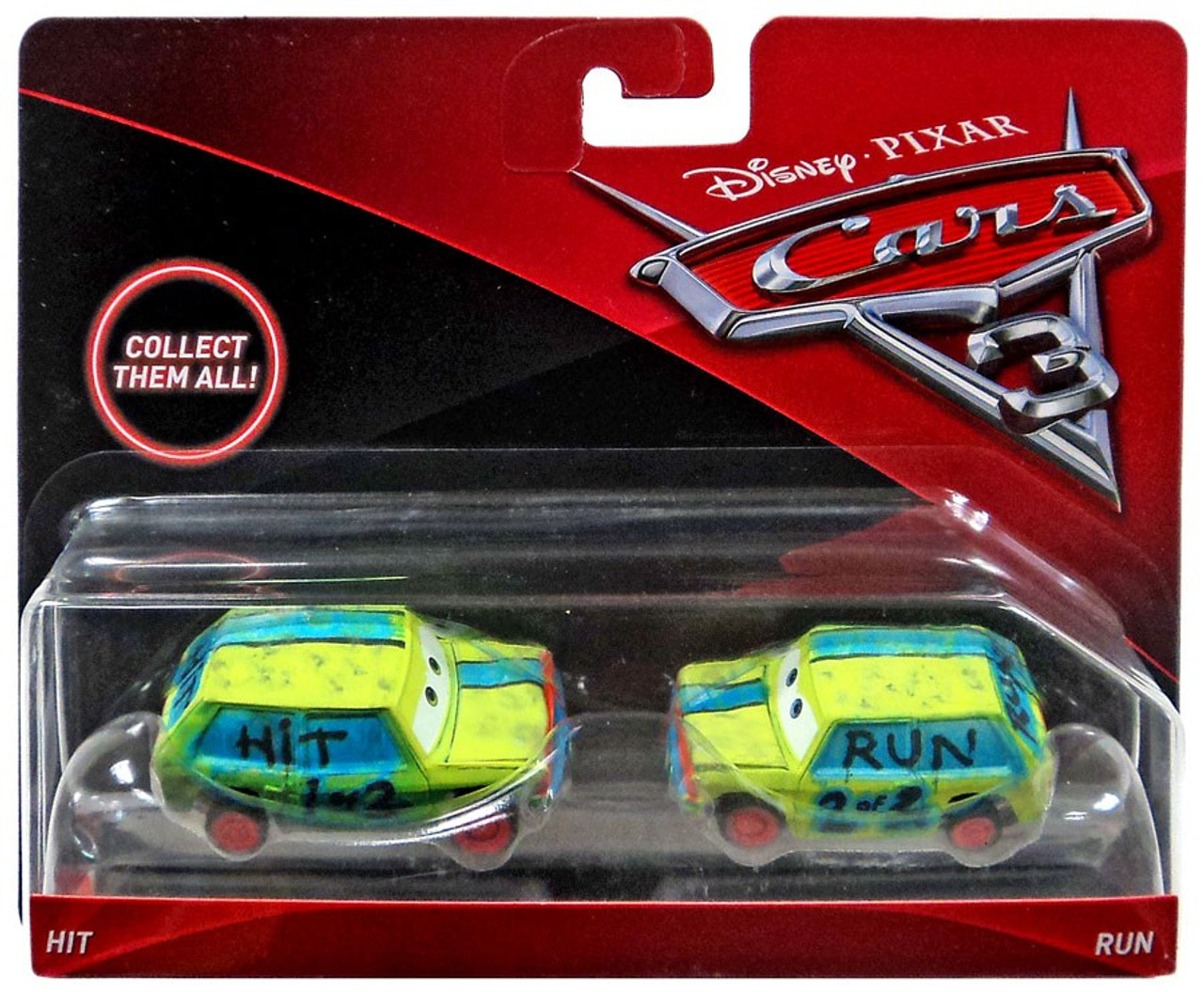 Disney Cars Cars 3 Hit Run 155 Diecast 2-Pack Mattel Toys - ToyWiz