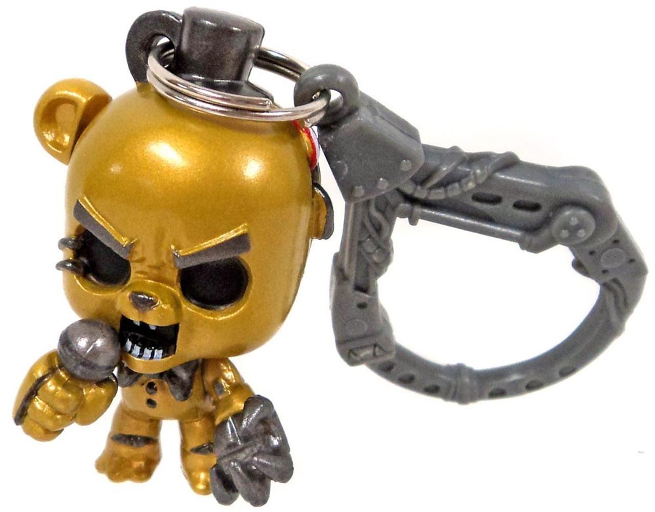 Five Nights At Freddys FNAF Hangers Series 1 Metallic Golden Freddy Collector Clip Loose