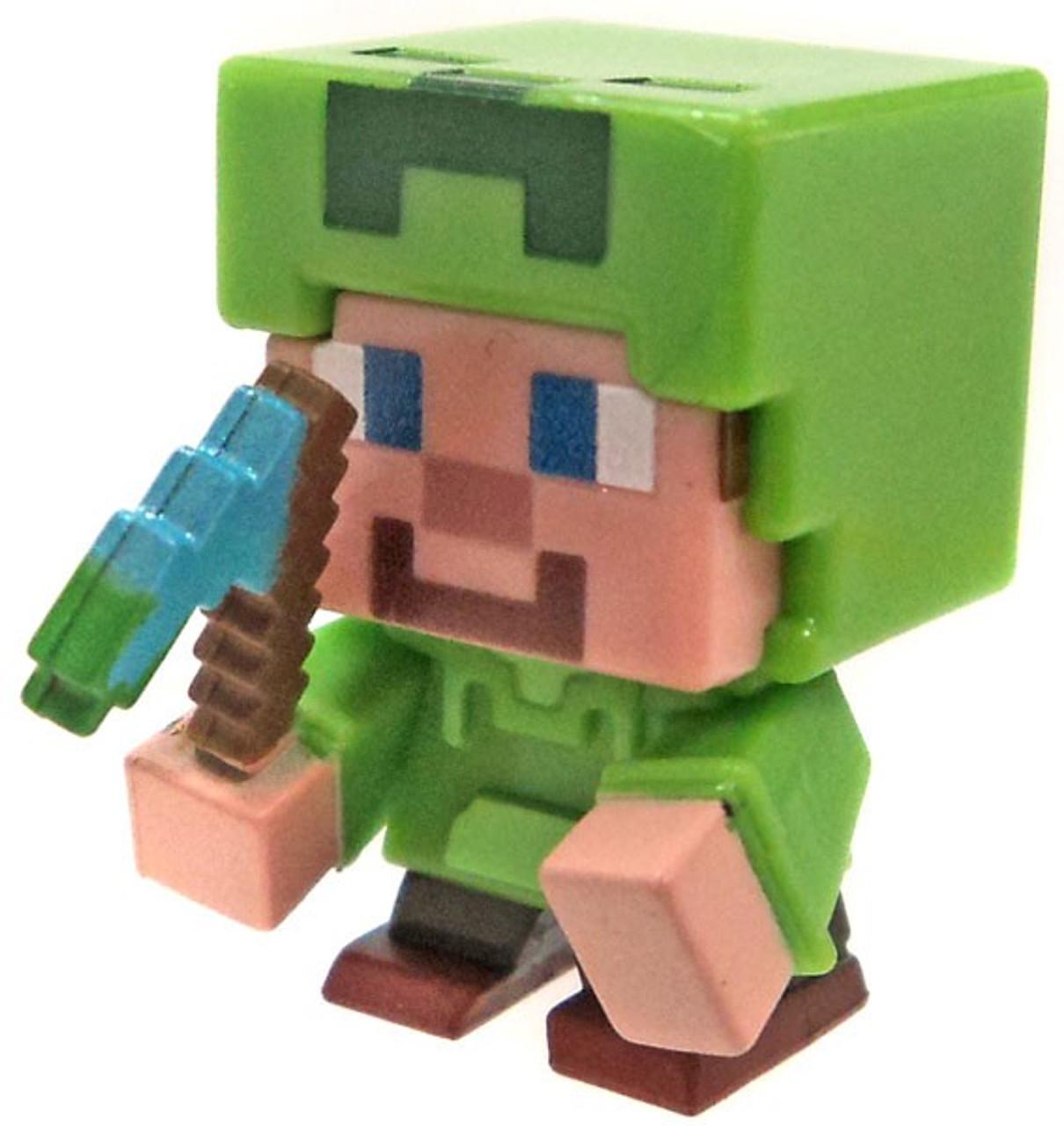 Minecraft spooky halloween series 9 steve in creeper hoodie mystery minifigure loose mattel toys - Minecraft creeper and steve ...