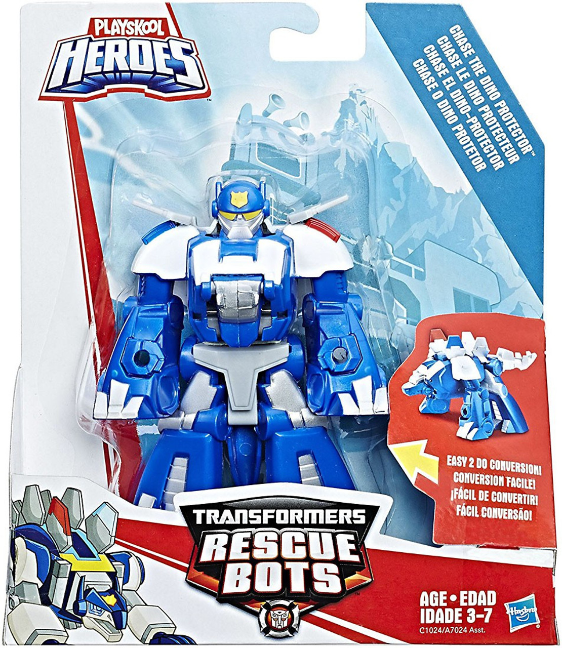 transformers rescue bots playskool heroes chase the dino protector