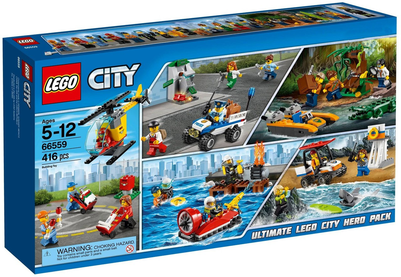lego city city super pack exclusive set 66559 toywiz. Black Bedroom Furniture Sets. Home Design Ideas