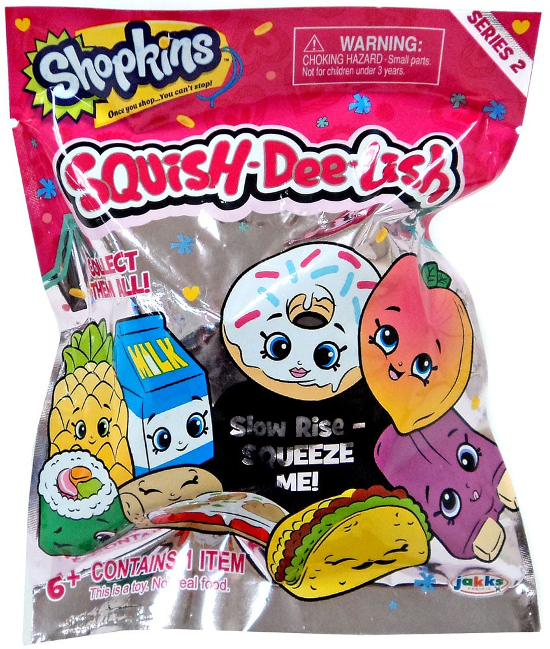 Squish Dee Lish Collection : Squish-Dee-Lish Shopkins Series 2 Mystery Pack Jakks Pacific - ToyWiz