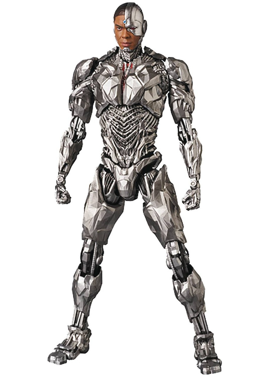 dc justice league mafex cyborg 6 action figure 064 justice league
