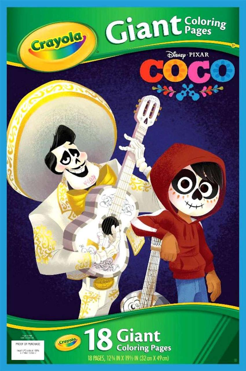 Crayola Disney Pixar Coco COCO Giant Coloring Pages Coloring Book ...