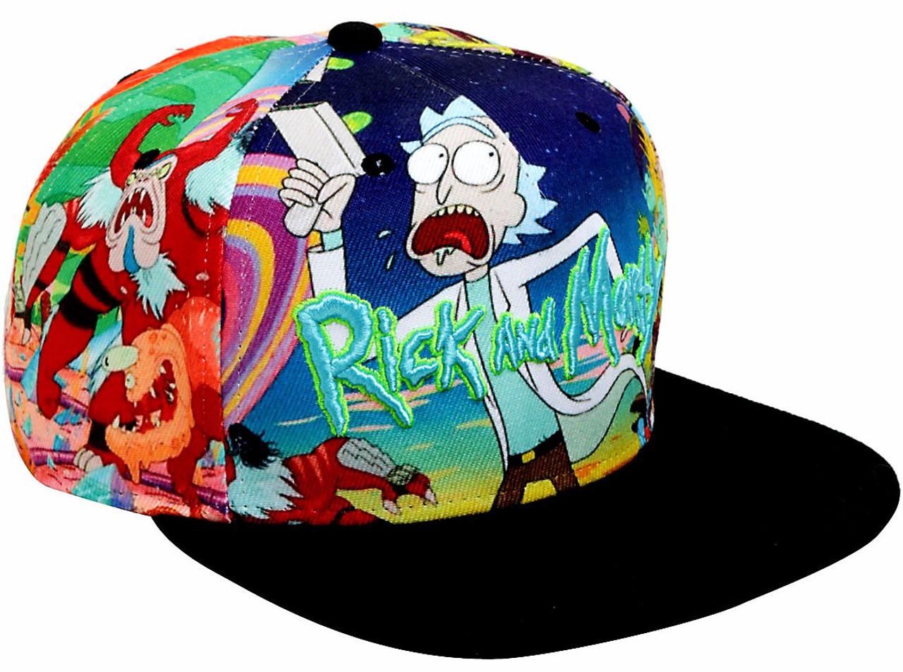 32dd64f8f29 Rick   Morty Allover Sublimation Snapback Hat