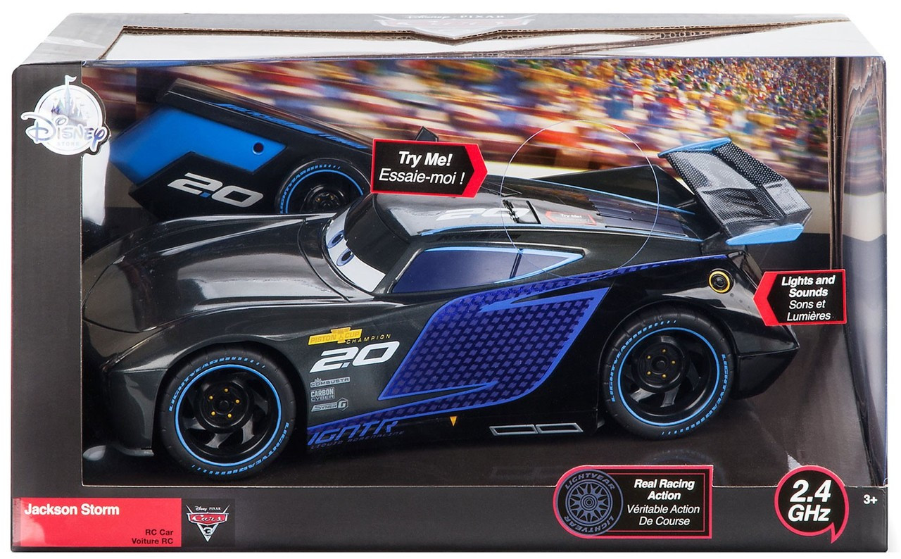 disney cars cars 3 jackson storm exclusive 10 rc vehicle 2. Black Bedroom Furniture Sets. Home Design Ideas