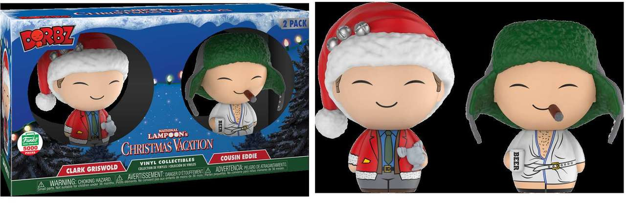 funko christmas vacation dorbz clark griswold cousin eddie vinyl figure 2 pack 12 days of christmas toywiz