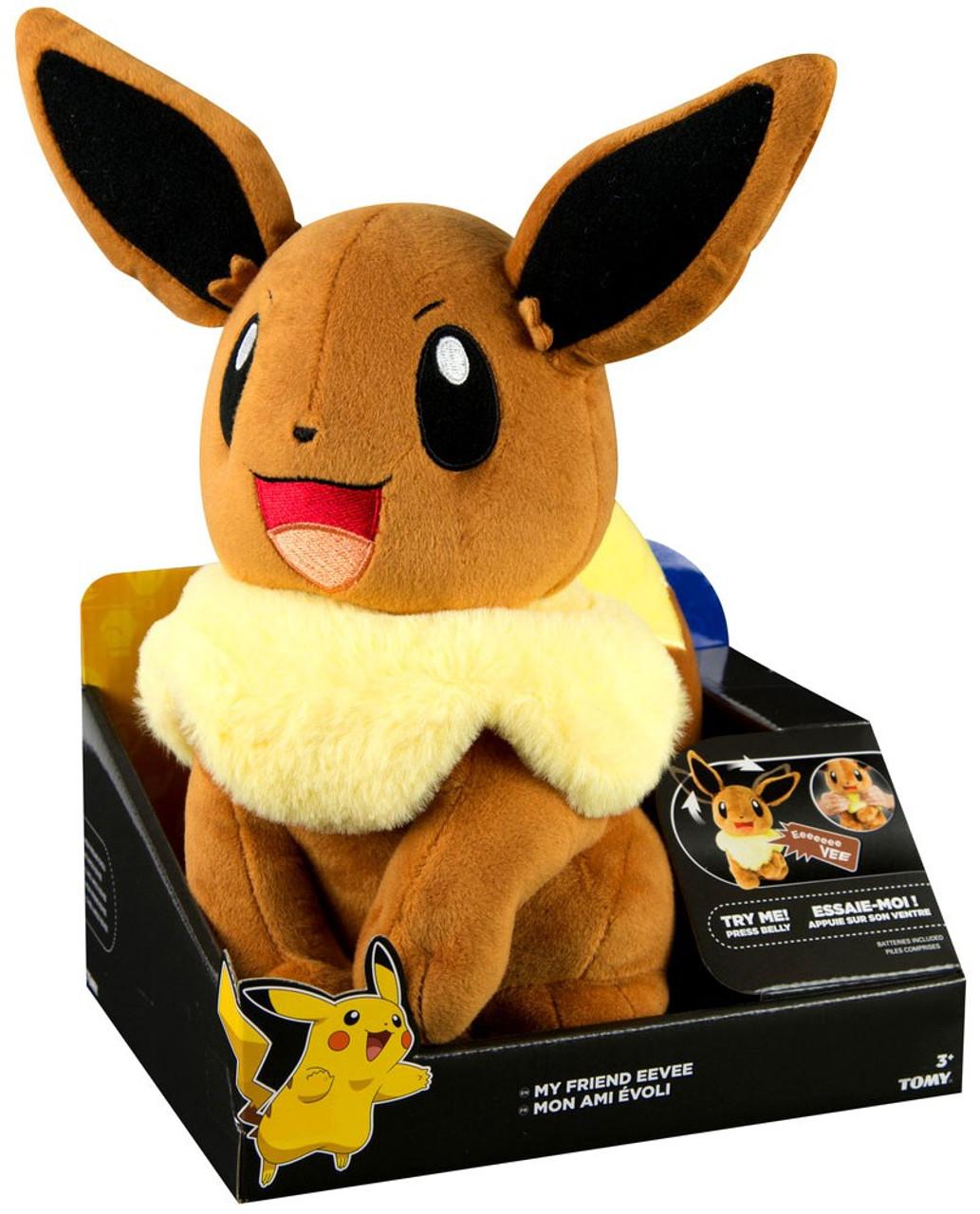 pokemon my friend eevee 10 talking plush tomy toywiz