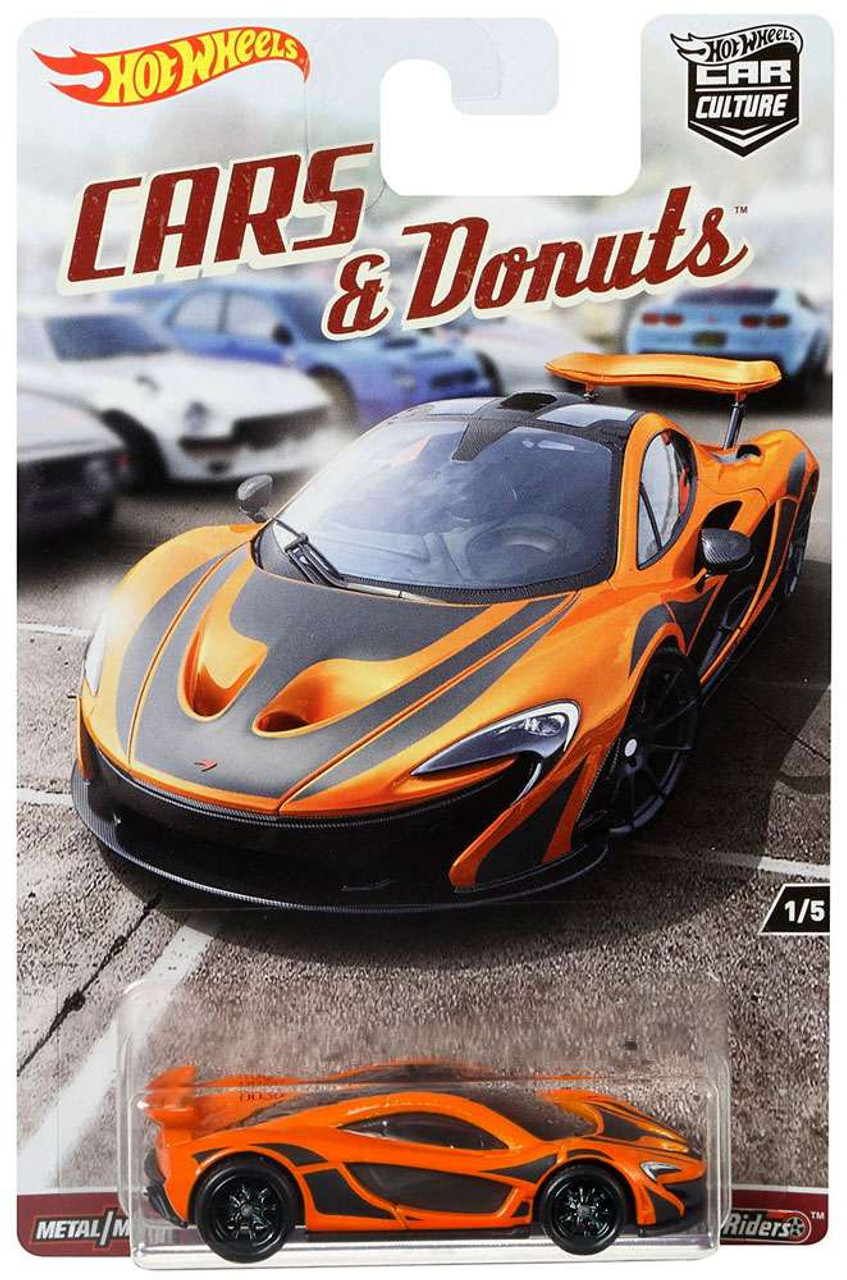 Hot Wheels Car Culture Cars Donuts McLaren P1 164 Die Cast Car 15 Mattel  Toys   ToyWiz