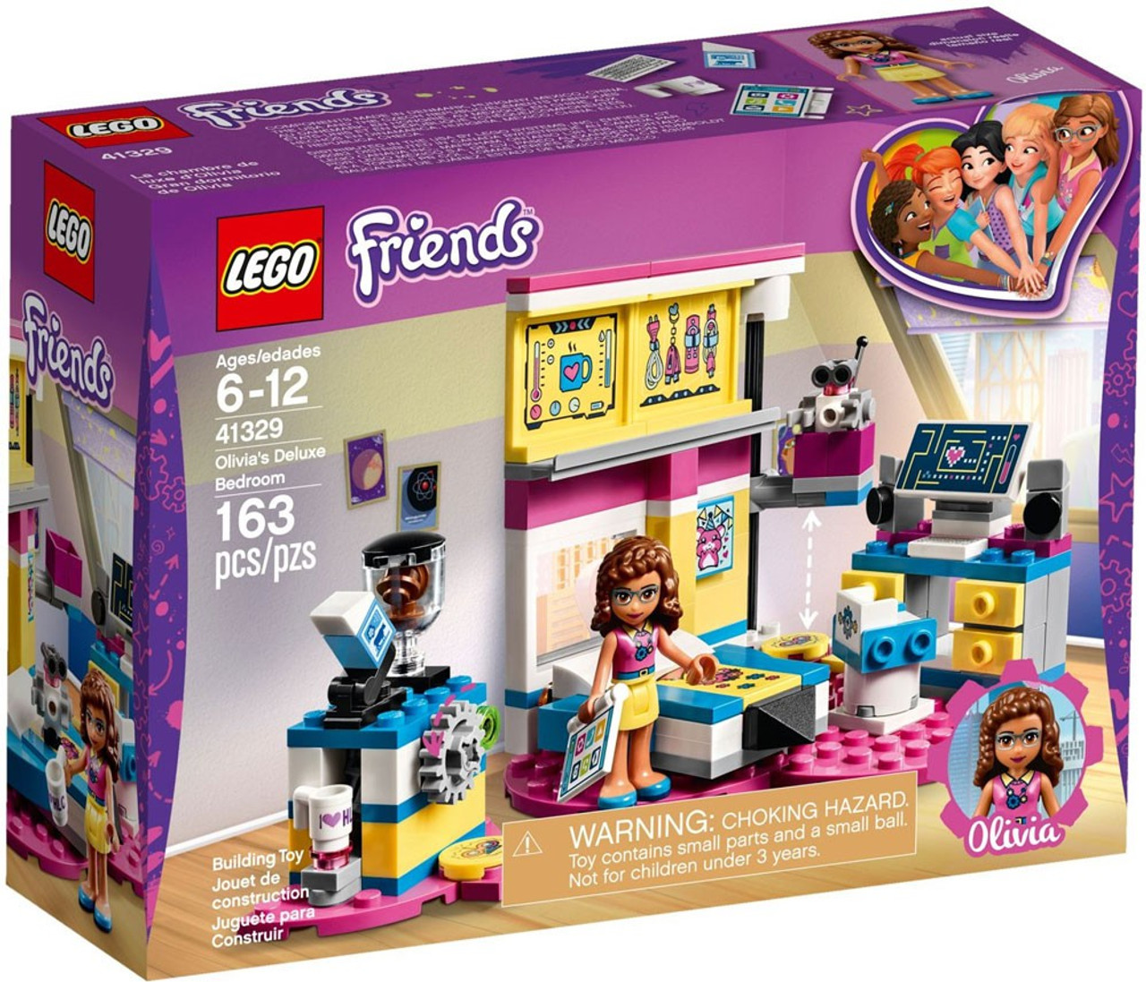 Lego Friends Olivias Deluxe Bedroom Set 41329 Toywiz