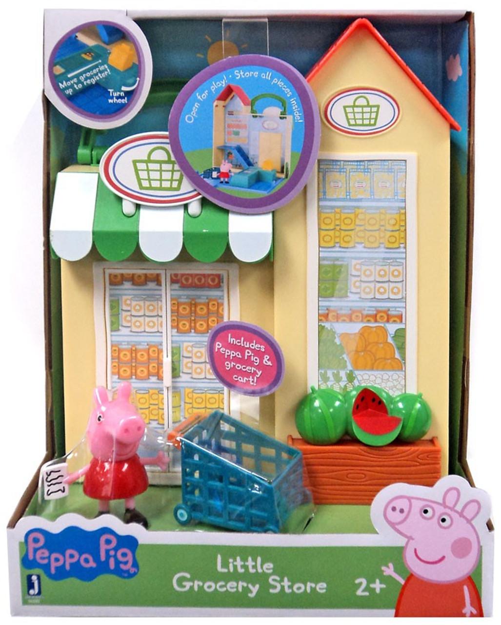 peppa pig little grocery store playset jazwares toywiz. Black Bedroom Furniture Sets. Home Design Ideas