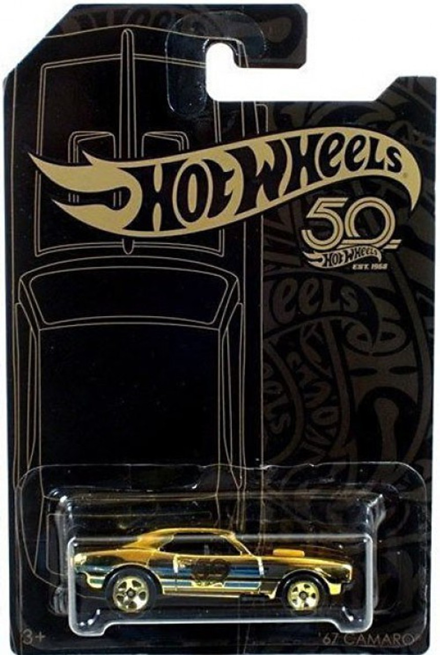 Hot wheels th anniversary black gold camaro chase