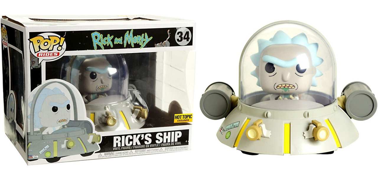 Funko Rick Morty Funko POP Rides Ricks Ship Exclusive Vinyl Figure ...