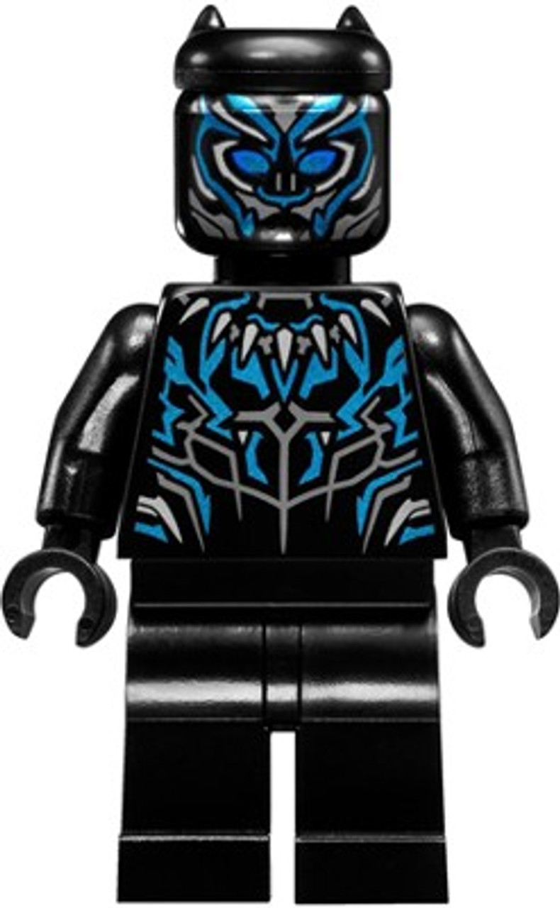 LEGO Marvel Black Panther Movie Black Panther Minifigure ...