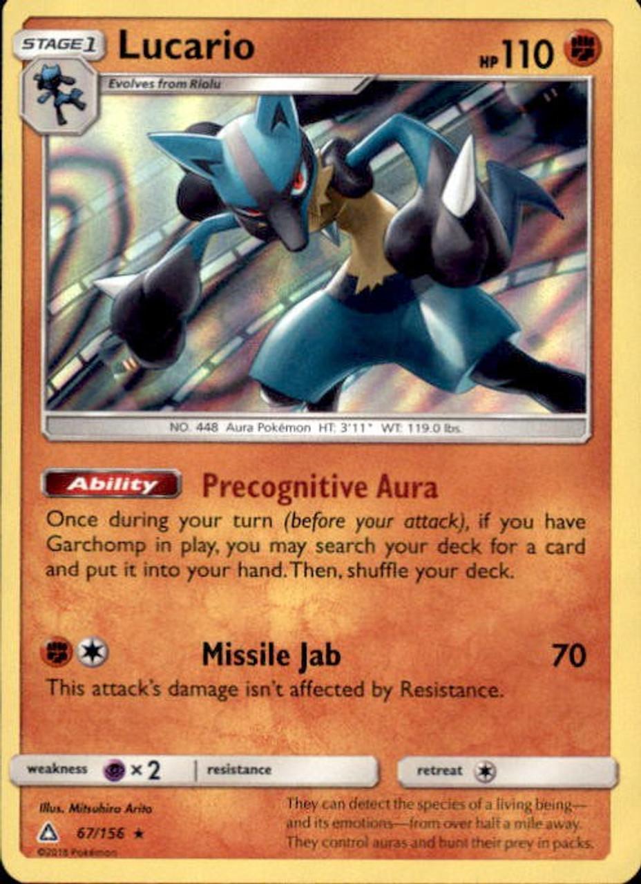pokemon sun moon ultra prism single card rare holo lucario 67 toywiz