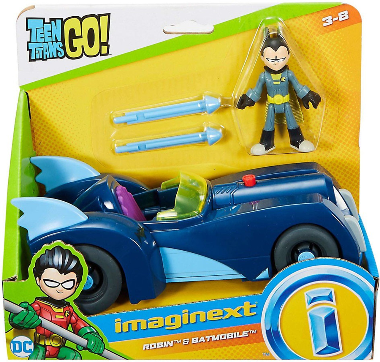 Fisher Price Teen Titans Go Imaginext Robin Batmobile 3