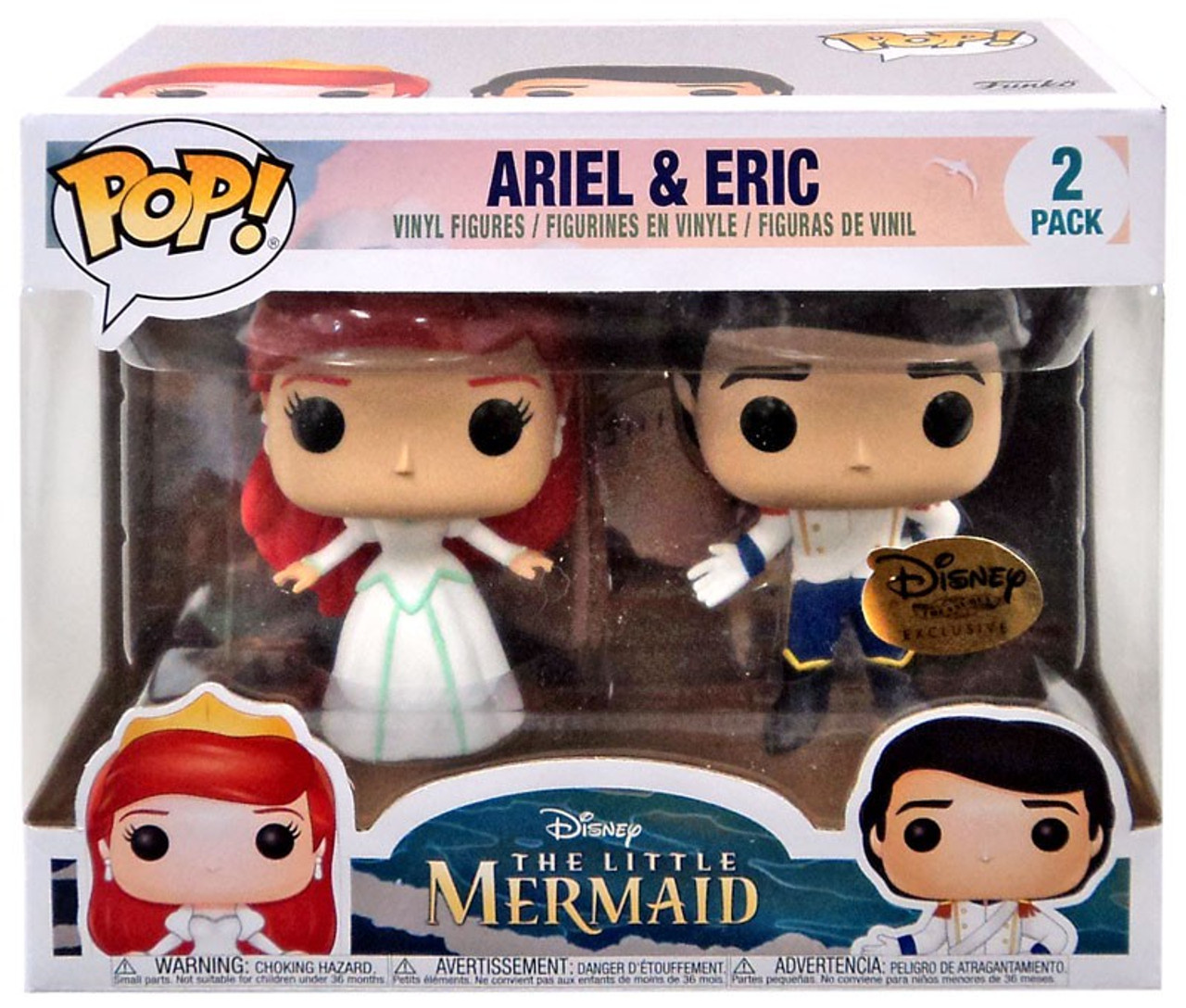ariel and eric. Disney Ariel  Eric Exclusive Vinyl Figure 2 Pack Funko The Little Mermaid POP