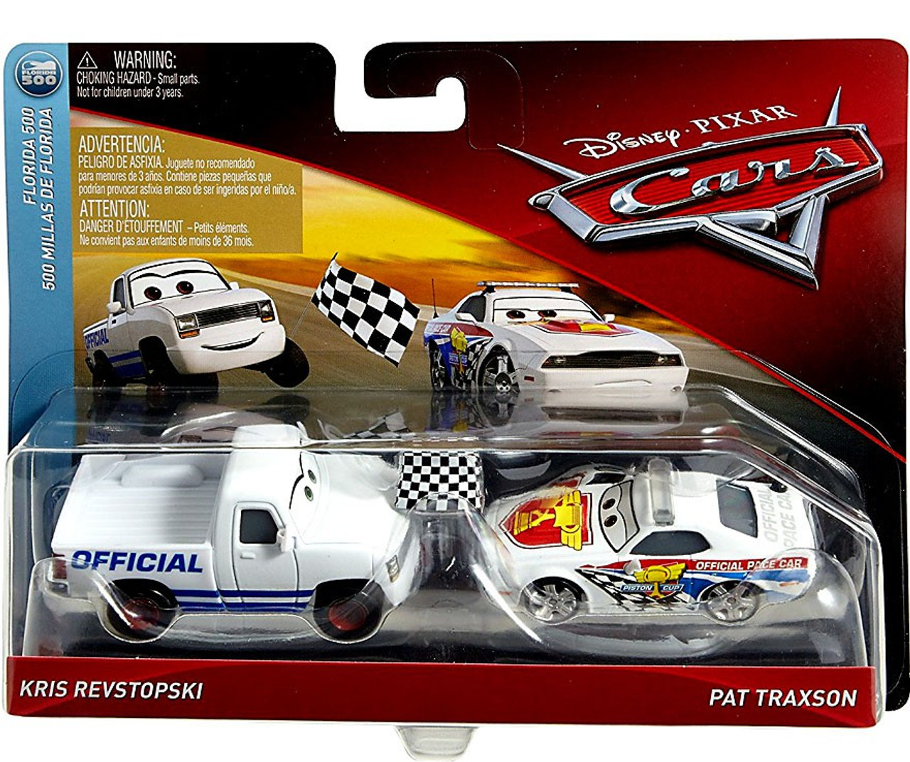 Disney Pixar Cars Cars 3 Florida 500 Kris Revstopski Pat Traxson 155