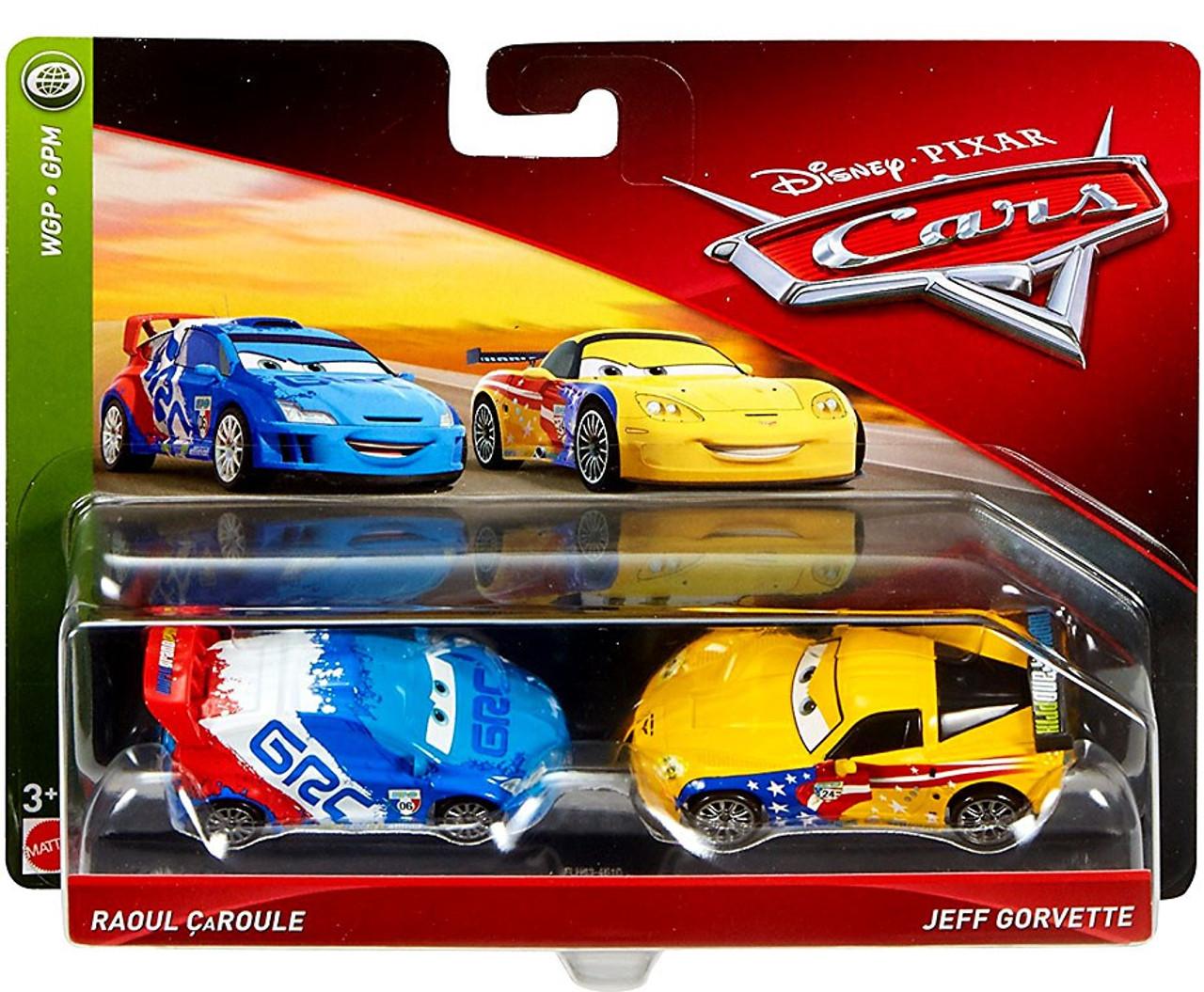 Disney Pixar Cars Cars 3 Wgp Raoul Caroule Jeff Gorvette 155 Diecast