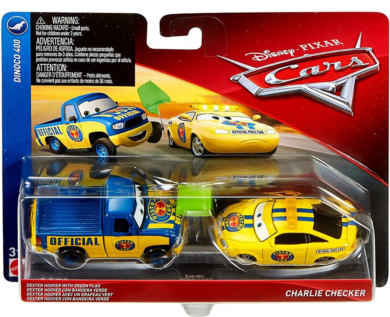 Disney Cars Cars 3 Dinoco 400 Dexter Hoover Green Flag