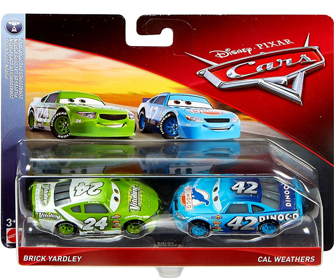 Disney pixar cars cars 3 piston cup racers brick yardley for Cars autootjes