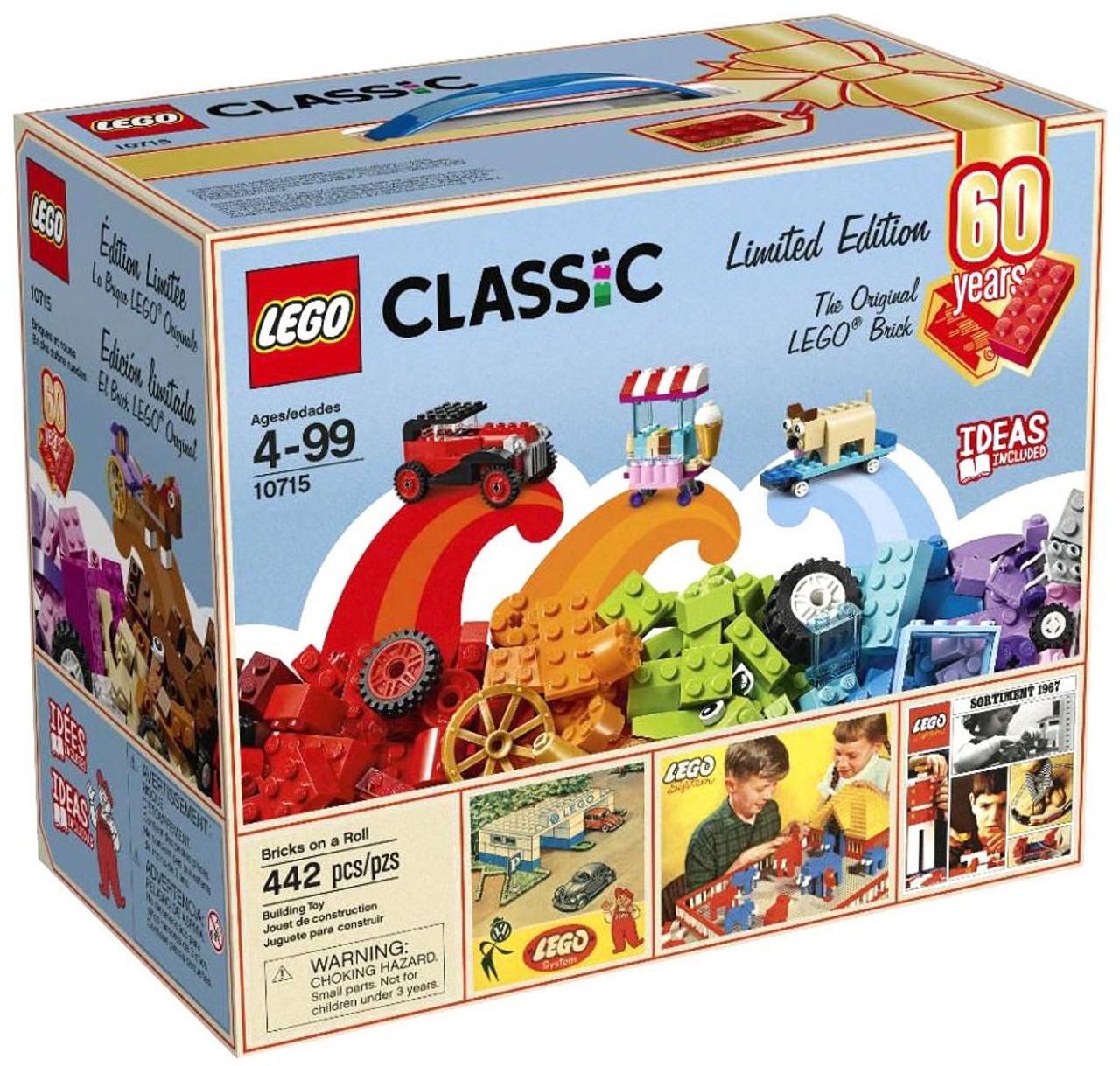Lego Classic 60 Years Limited Edition Bricks On A Roll Set 10715 10709 Orange Creativity Box Toywiz