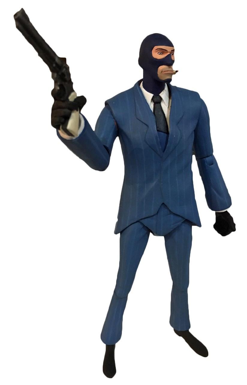 spy action figure neca fortress team blu series figures pre toywiz stencil tf2 ships order
