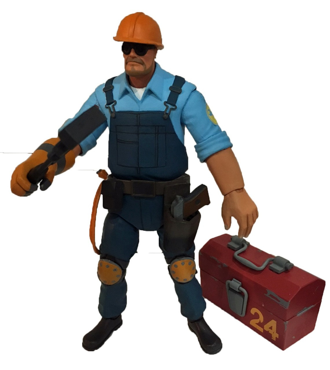neca team fortress 2 blu series 35 the engineer 7 action