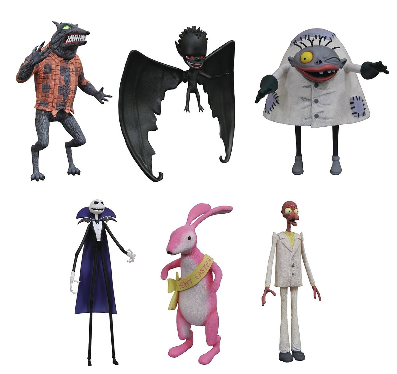 Nightmare Before Christmas Select Series 5 Easter Bunny, Wolfman ...