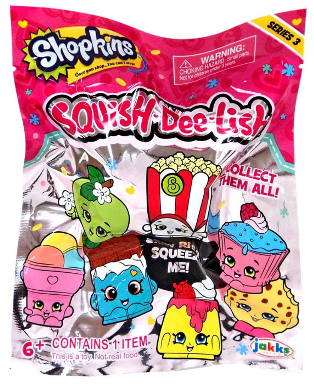 Squish Dee Lish Collection : Squish-Dee-Lish Shopkins Series 3 Mystery Pack Jakks Pacific - ToyWiz