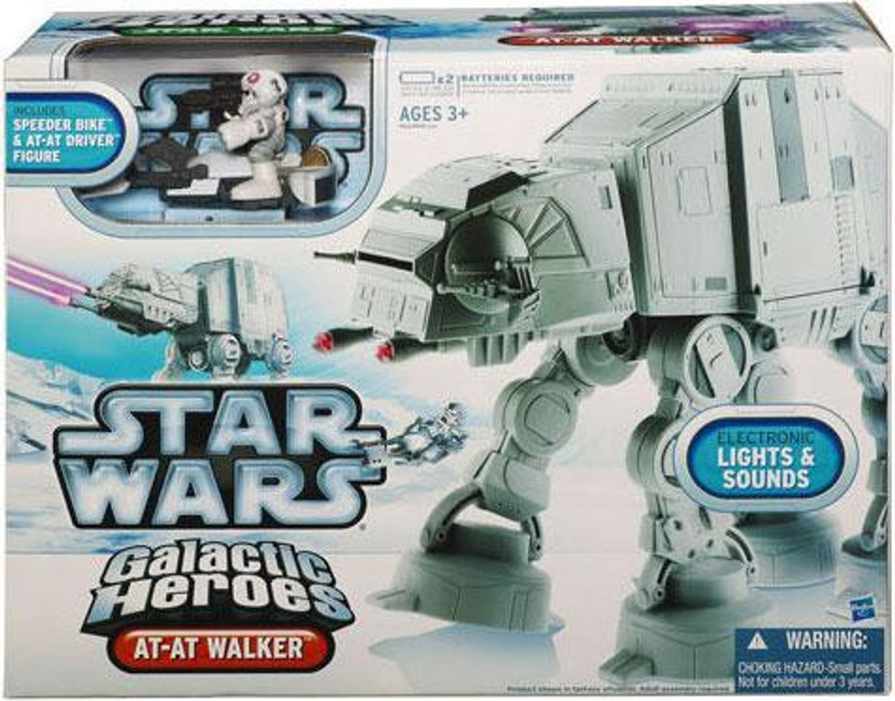 Star Wars Empire Strikes Back Galactic Heroes 2010 AT-AT Walker Mini Vehicle 2-Pack