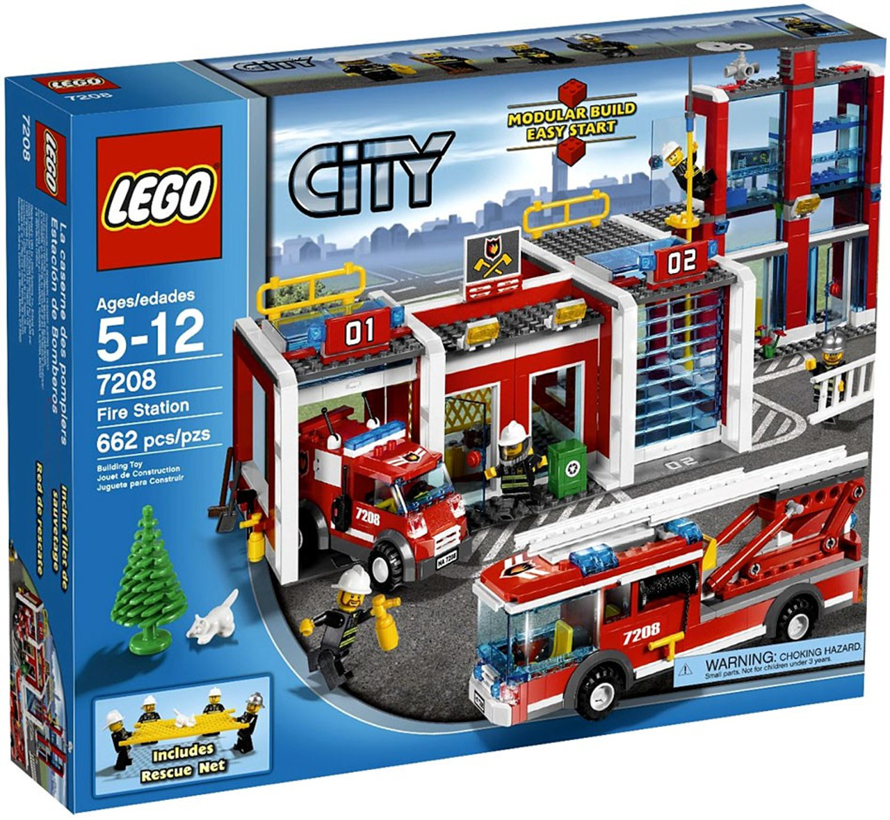 Lego City Fire Station Set 7208 Toywiz