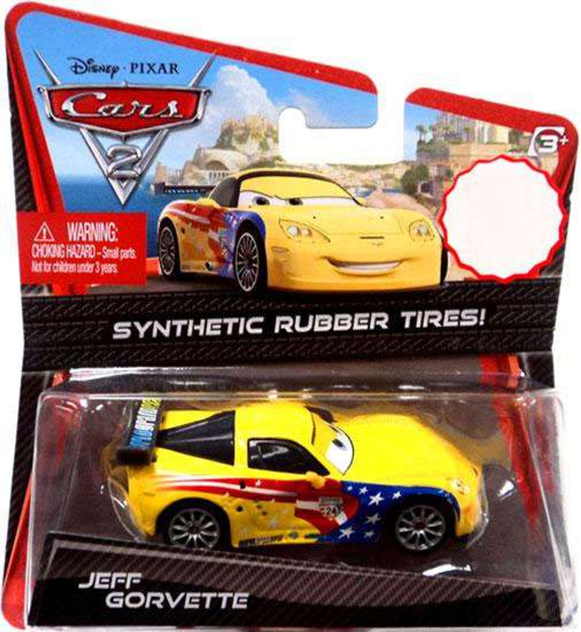 Disney Pixar Cars Cars 2 Synthetic Rubber Tires Jeff Gorvette