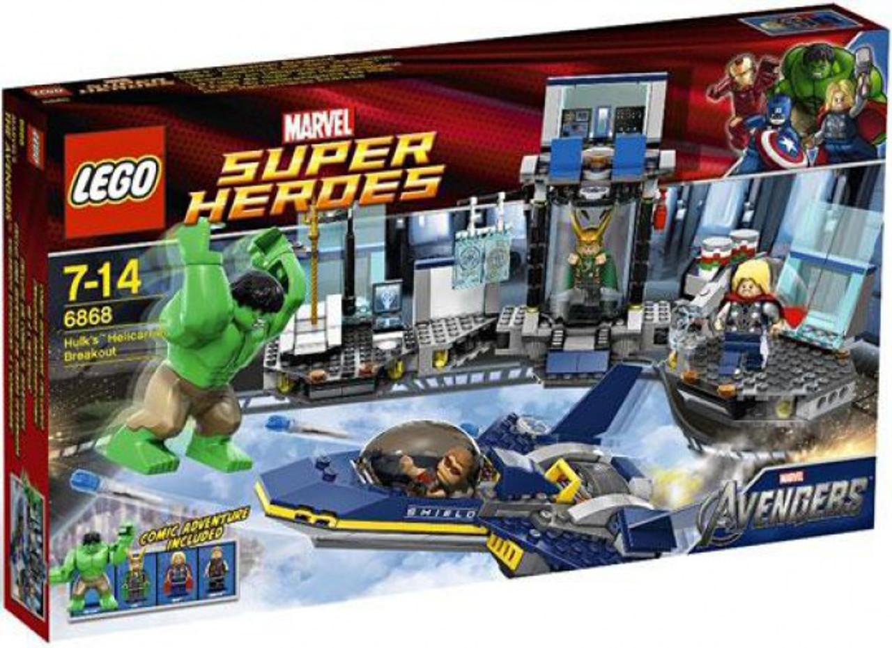 LEGO Marvel Super Heroes Avengers Hulks Helicarrier Breakout Set ...