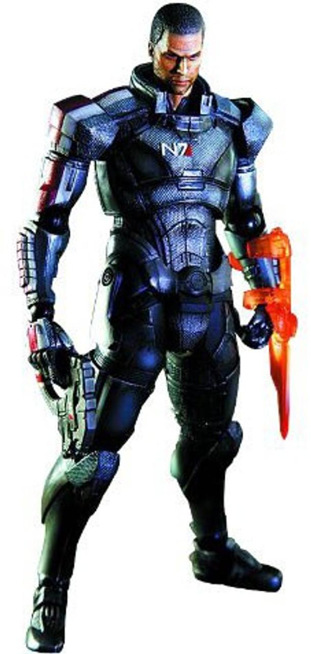 Mass Effect 3 Play Arts Kai Commander Shepard Action Figure