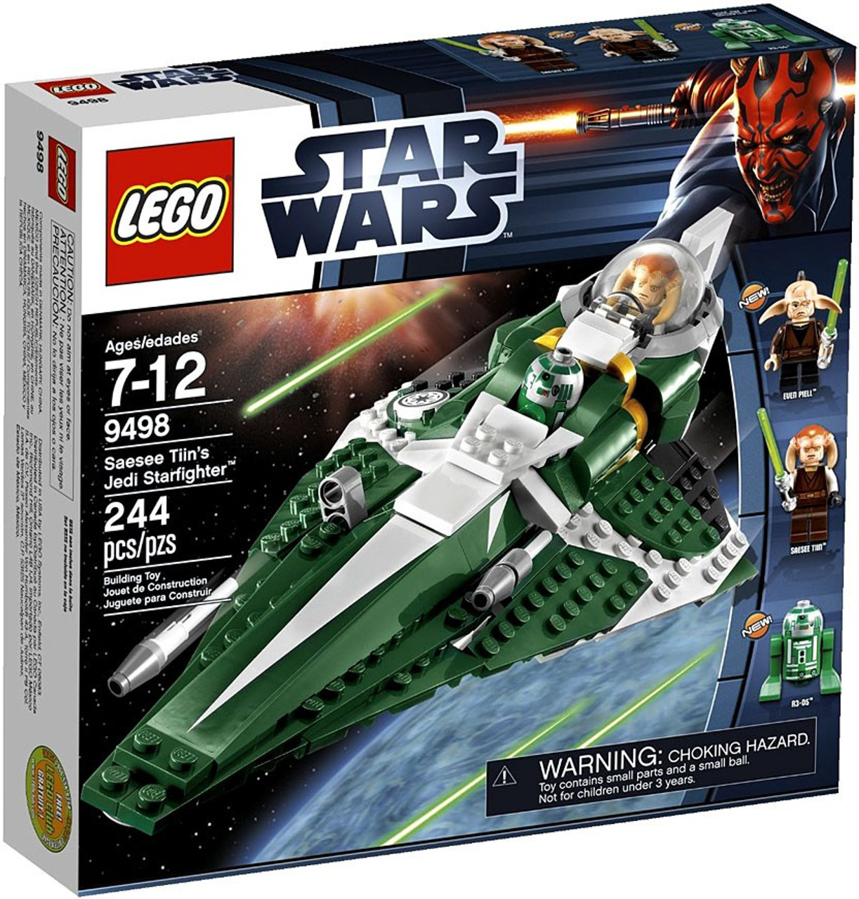 LEGO Star Wars The Clone Wars Saesee Tiins Jedi Starfighter Set 9498 ...