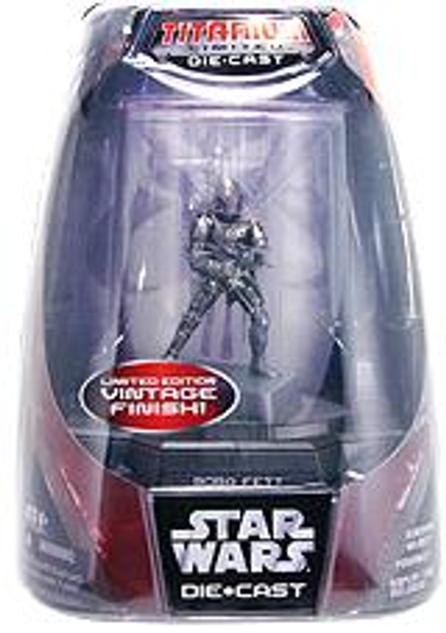 Star Wars Return of the Jedi Titanium Series 2007 Boba Fett Diecast Figure [Vintage Finish]