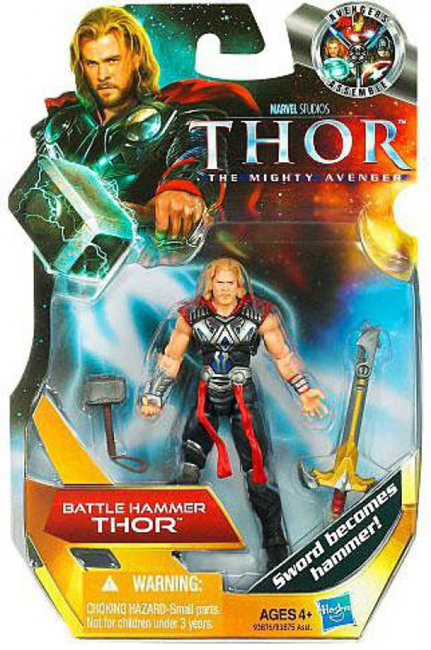 thor the mighty avenger thor 4 action figure 1 battle hammer hasbro