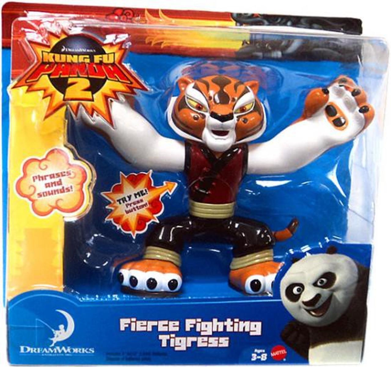 Kung Fu Panda 2 Tigress Action Figure Fierce Fighting Mattel Toys