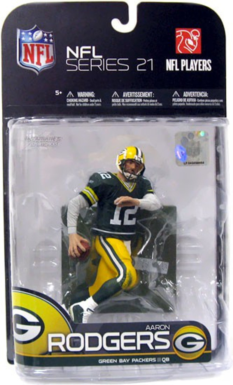 McFarlane Toys NFL Green Bay Packers Sports Picks Series 21 Aaron Rodgers Action  Figure  Green Jersey  769a91049