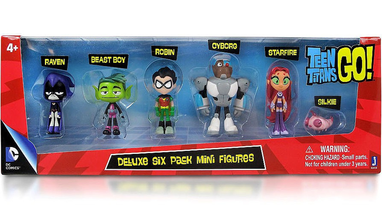 Teen Titans Go Teen Titans 2 Mini Figure Deluxe 6-Pack -1589