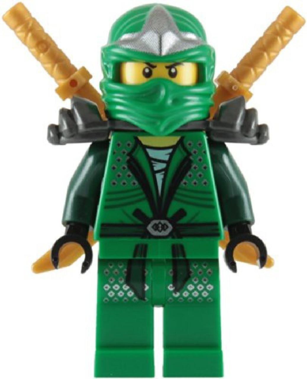 LEGO Ninjago Lloyd ZX With Dual Gold katanas Minifigure Green Loose ...